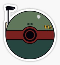 Boba Fett Pokemon Ball Mash-up Sticker