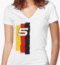 Sebastian Vettel  Women's Fitted V-Neck T-Shirt