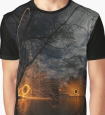 Spinning on a ledge Graphic T-Shirt