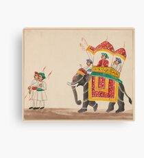 Decorated Indian Elephant with a Canopied Howdah Canvas Print