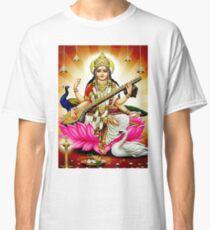 """BRAHMA SARASWATI CONSORT AND GODDESS"" Print Classic T-Shirt"