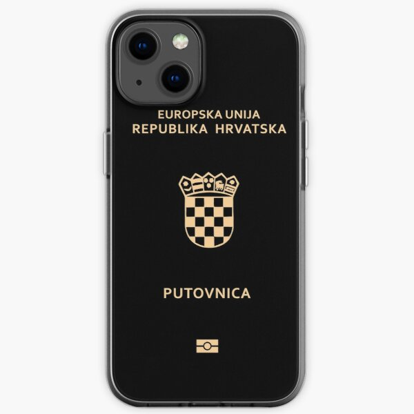 Croatia passport iPhone Soft Case