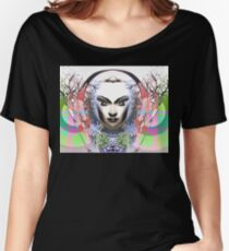 Spring Moon; Expressionism Digigraph by leading Upside Down artist  L. R. Emerson II Women's Relaxed Fit T-Shirt