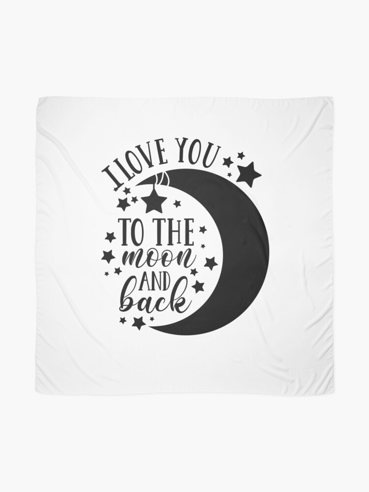Alternate view of I Love You To The Moon and Back Scarf