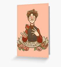 ~*~follow 4 more brilliant~*~ Greeting Card