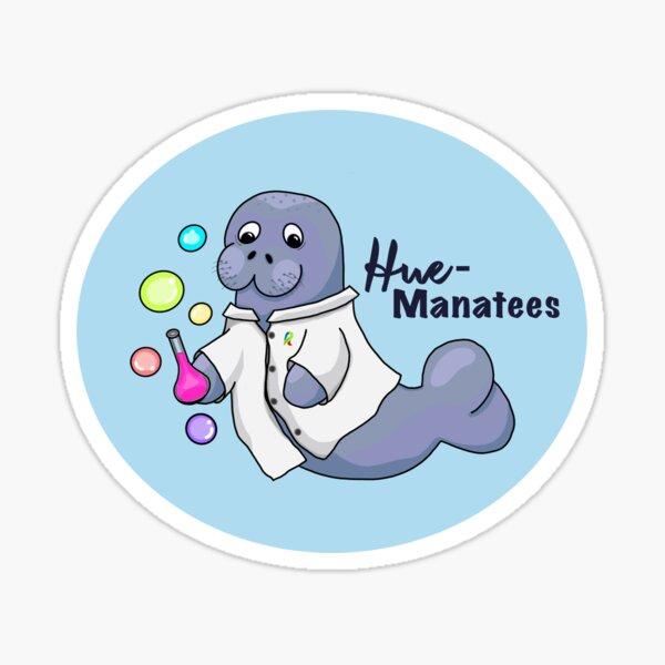 Hue manatees logo Sticker