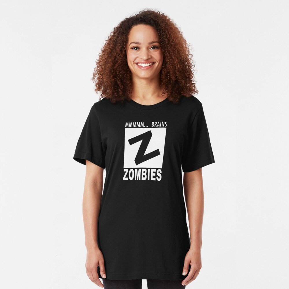 Zombies Rating Slim Fit T-Shirt
