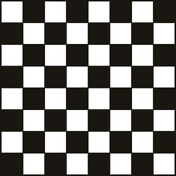 Black and White Checkers Board by starcloudsky