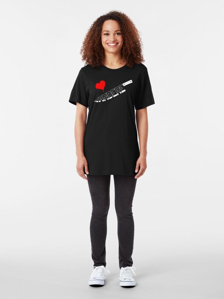 Alternate view of Yandere Knife Slim Fit T-Shirt