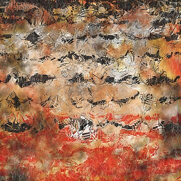 Abstract in orange, black, and white by braveevolver