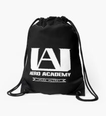 U.A. High Plus Ultra logo - (My Hero Academia, Boku no Hero Academia, BNHA) Drawstring Bag