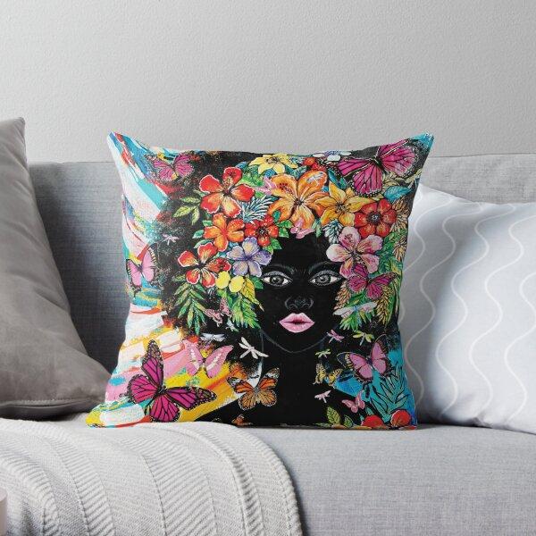 Tribute to Melanin - Blossom Throw Pillow