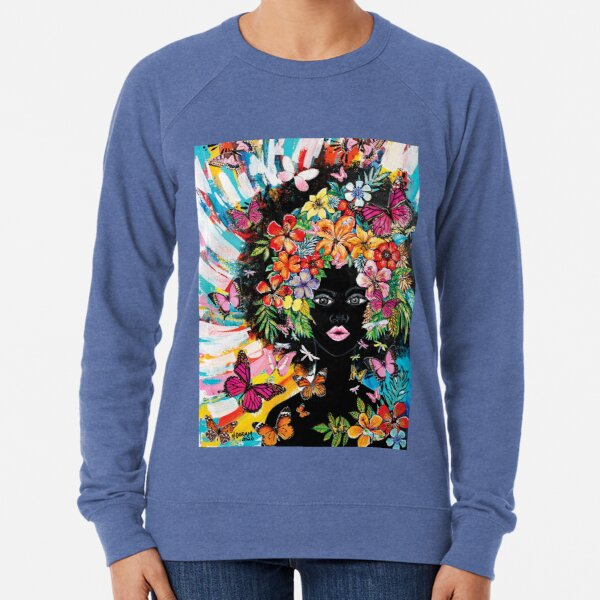 Tribute to Melanin - Blossom Lightweight Sweatshirt