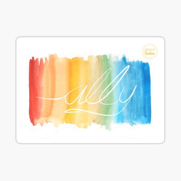LGBTQ Ally - Rainbow Pride Supporter Sticker