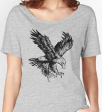 Bald Eagle (Black) Women's Relaxed Fit T-Shirt