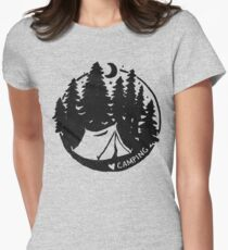 Love Camping Womens Fitted T-Shirt