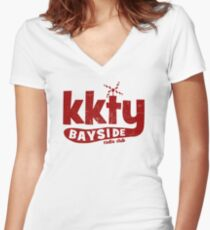 KKTY Bayside - Saved by the Bell Women's Fitted V-Neck T-Shirt