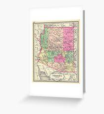 Vintage Map of Arizona (1881) Greeting Card
