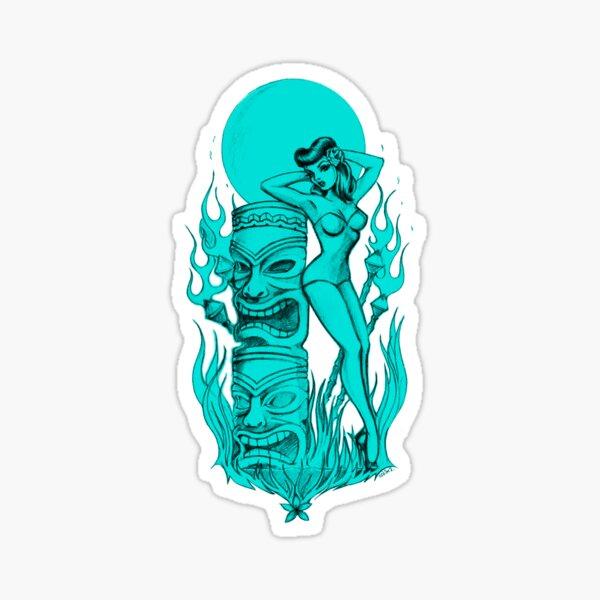 Tiki blue moon Sticker