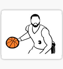 Dwyane Wade Dribbling a Basketball Sticker