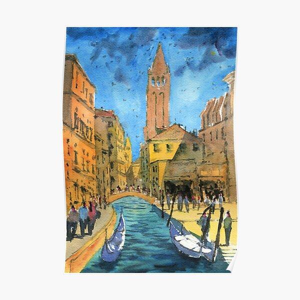 Venice - Campo San Barnaba Painting Poster