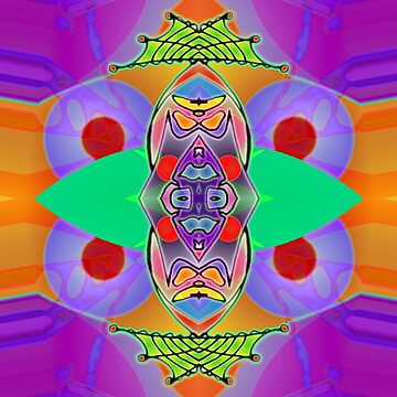 Peter Max and the Day-Glo Dream - Upside Down Art by Upside Down artist L. R. Emerson II  by emersonl