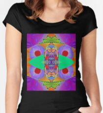 Peter Max and the Day-Glo Dream - Upside Down Art by Upside Down artist L. R. Emerson II  Women's Fitted Scoop T-Shirt
