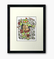 Michelangelo - Chibi Framed Print