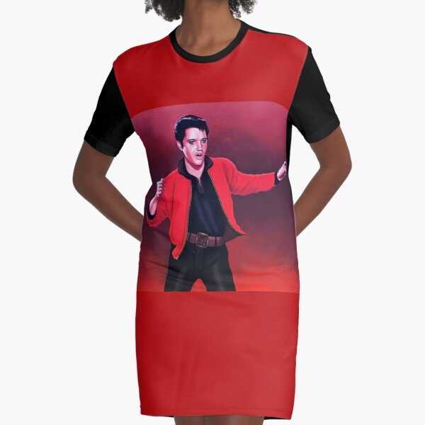 Elvis Presley 4 Painting Graphic T-Shirt Dress