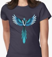 Magpie Bird in Flight Womens Fitted T-Shirt