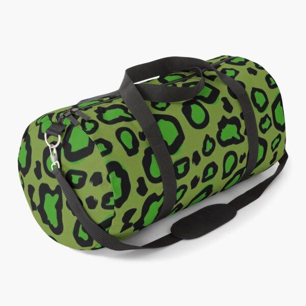 Lime green leopard print  Duffle Bag