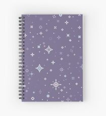 Lilac Starlight pattern (8bit) Spiral Notebook