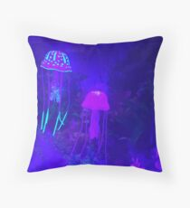 Glowing Jellyfish Throw Pillow
