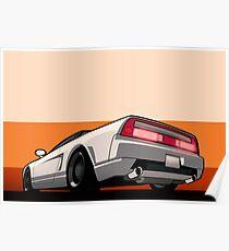 White Honda Acura NSX Poster