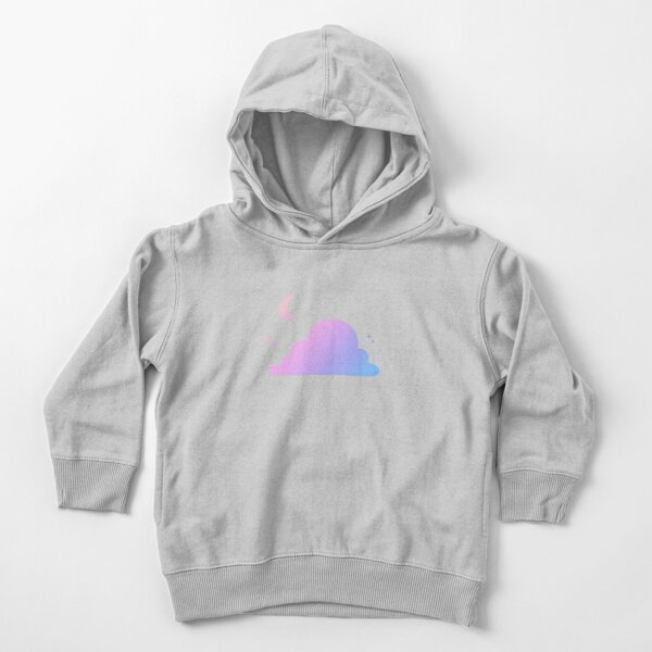 Aesthetic Cloud and Moon Gradient Design Toddler Pullover Hoodie