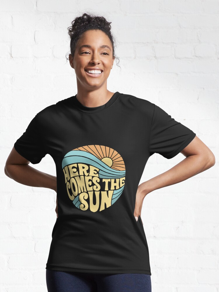 Alternate view of Groovy Here Comes the Sun Active T-Shirt