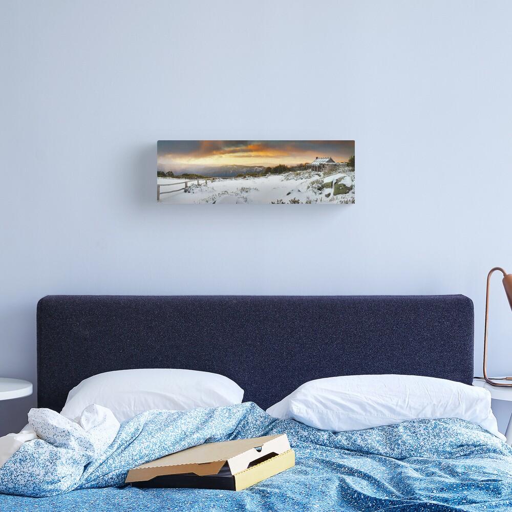 Craigs Hut Winter Sunset, Mt Stirling, Victoria, Australia Canvas Print