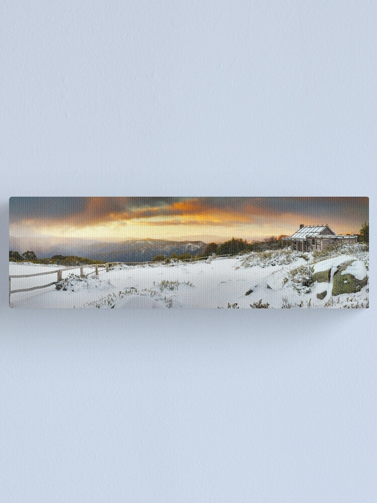 Alternate view of Craigs Hut Winter Sunset, Mt Stirling, Victoria, Australia Canvas Print
