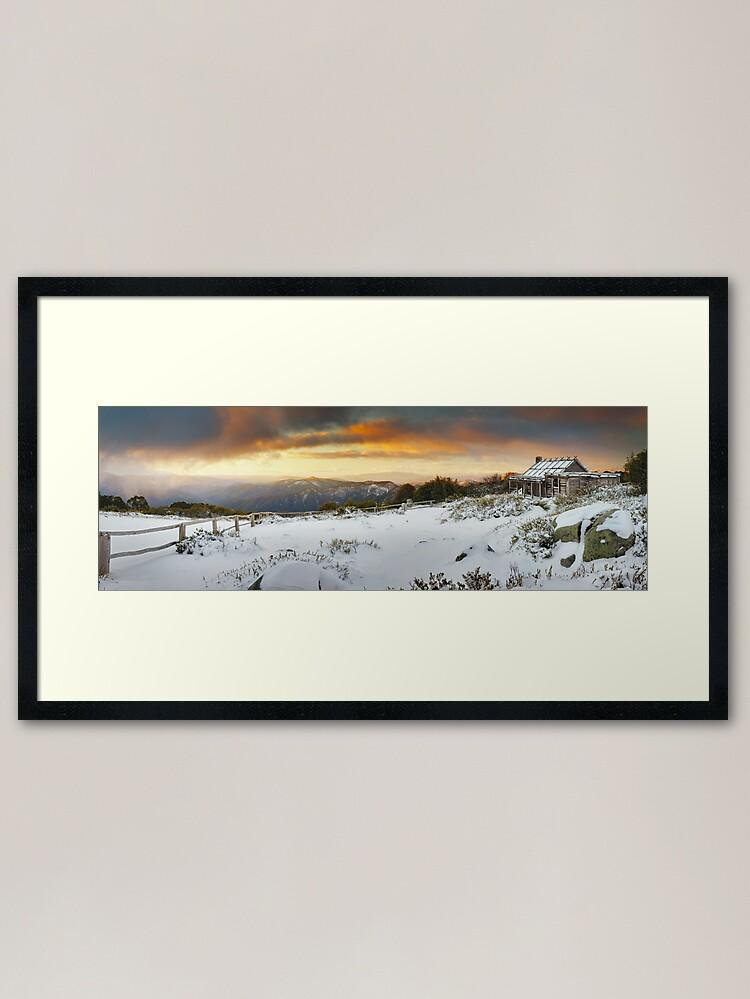 Alternate view of Craigs Hut Winter Sunset, Mt Stirling, Victoria, Australia Framed Art Print