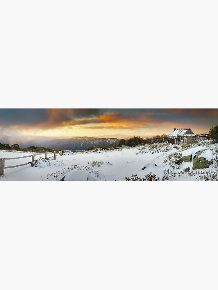 Craigs Hut Winter Sunset, Mt Stirling, Victoria, Australia by Chockstone