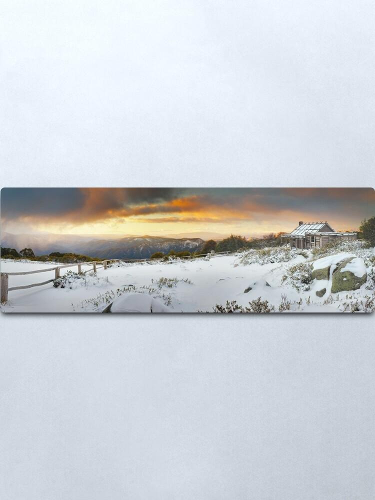 Alternate view of Craigs Hut Winter Sunset, Mt Stirling, Victoria, Australia Metal Print