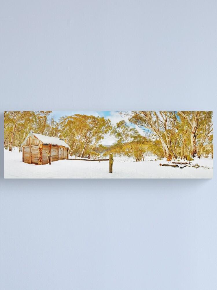 Alternate view of Cascade Hut, Kosciuszko National Park, New South Wales, Australia Canvas Print