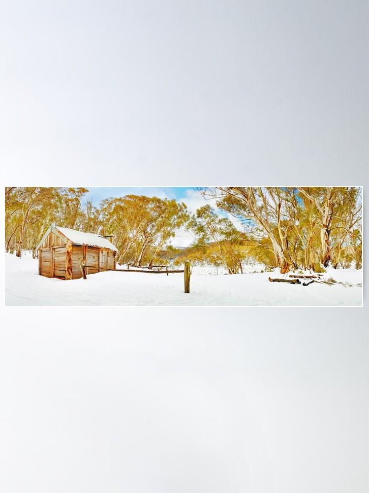 Alternate view of Cascade Hut, Kosciuszko National Park, New South Wales, Australia Poster