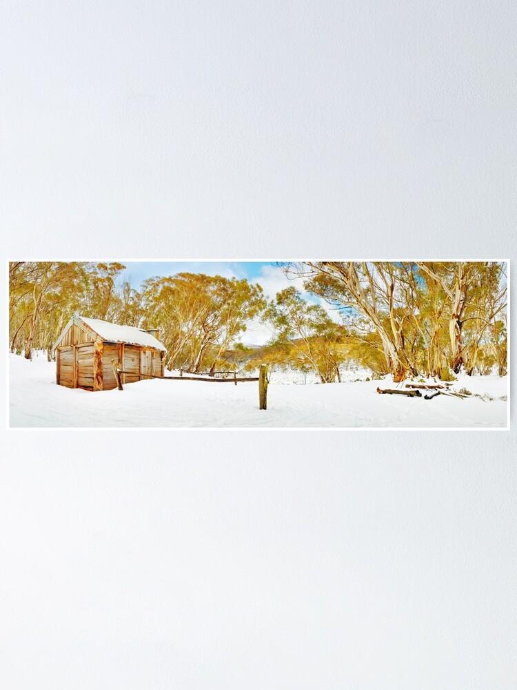 Alternate view of Cascade Hut, Kosciuszko National Park, New South Wales, Australia Poster