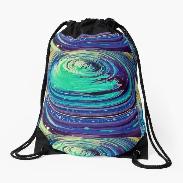 KAK Turquoise Swirl Drawstring Bag