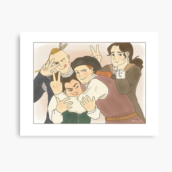 The BackCountry Boys (Outlander v1 - Landscape) Canvas Print