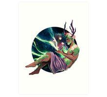 Mr. Antlers Art Print