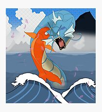 Pokemon Koi Dragon (Gyarados & Magikarp) Photographic Print
