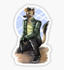 Agent Carver Hyena Sticker