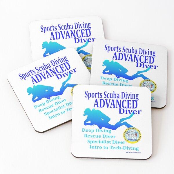 Advanced Scuba Diver Coasters (Set of 4)